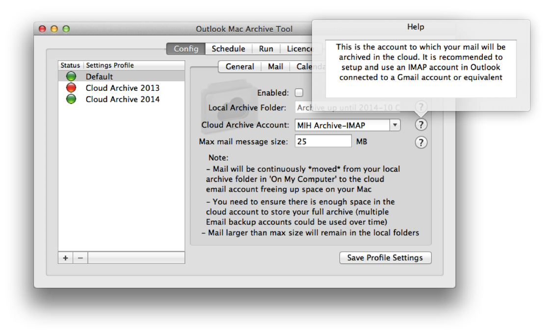 Outlook Mac Archive Tool for Office 2011 and Office 365