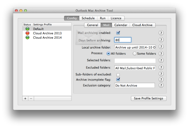 New Auto Archiving tool for Outlook Mac for Office 365 2016 and 2011