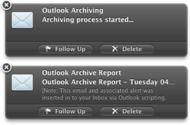 Outlook Alerts
