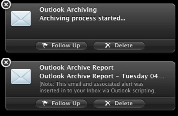 Outlook Alerts